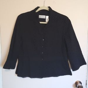 Broderie Anglaise blazer suit jacket